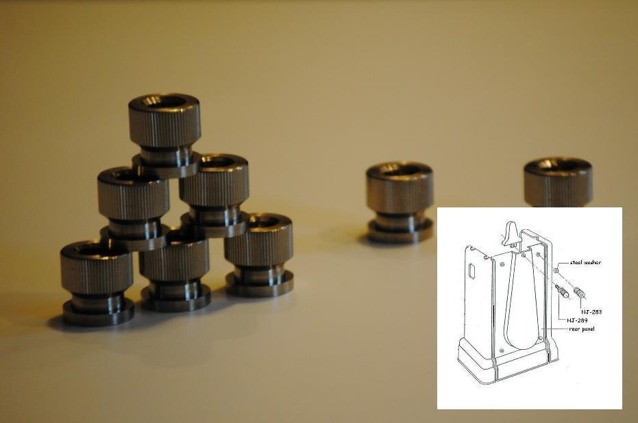 Cast iron base knurled nuts (NJ-283)